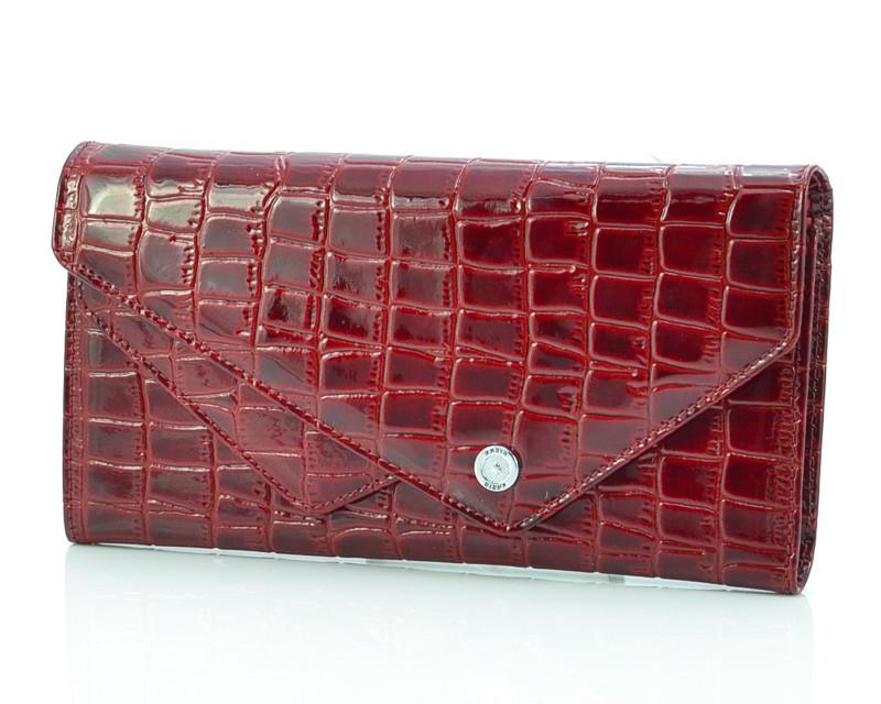 Вишневый лакированный кошелек Karya 1115-08 (Турция)