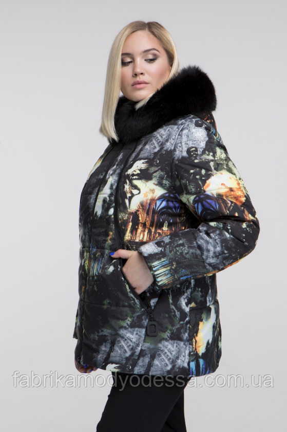 48-68, фото Стильная зимняя куртка женская недорого большого размера  Фабрика моды р. c181c0948a6