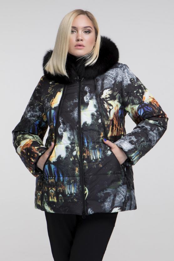 Стильная зимняя куртка женская недорого большого размера Фабрика моды р. 48 -68 144c84a00c2