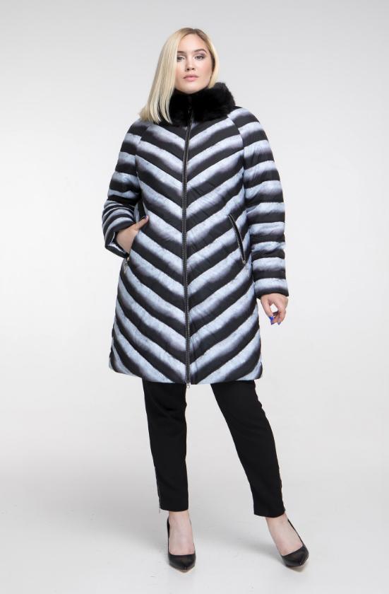 Стильная зимняя куртка женская недорого большого размера Фабрика моды р. 48- 62 900aa3dec06