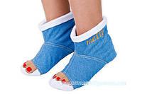 Прикольные домашние джинсовые тапочки-сапожки с 18 по 45 размер 2ca22da6889f5