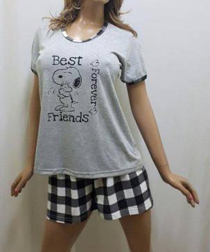 Пижама женская футболка и шорты большого размера 52, 54, Харьков, фото 2