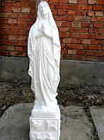 Скульптура Лурдес из белого бетона