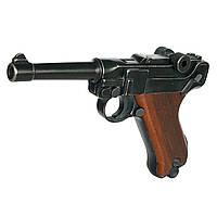 Пістолет стартовий ME Luger P-08 9 мм (1195.03.07), фото 1
