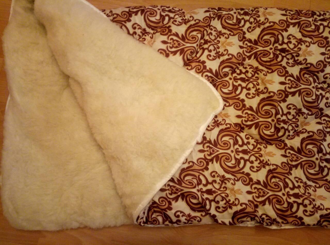 Теплу вовняну ковдру полуторна