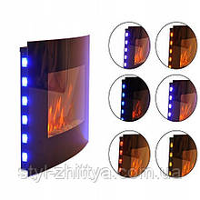 Електричний камін настінний з LED підсвіткою 2кВт