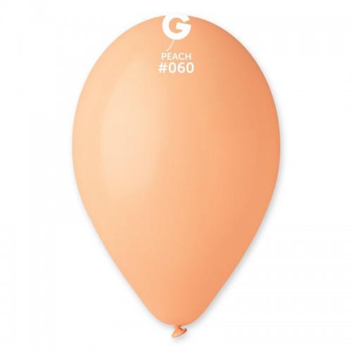 """Воздушные шары Gemar 12"""" (30 см), Пастель Персиковый 60, 100 шт (G110)"""