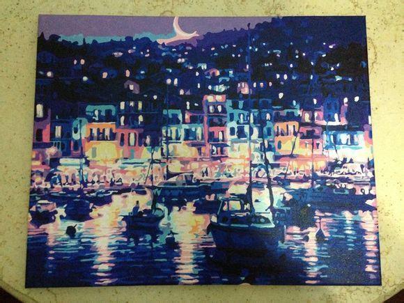 Раскраска по номерам Ночная гавань (G145, w039) 40 х 50 см