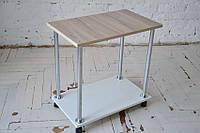 Журнальный столик на колесах (столик для ноутбука или завтрака) Loco Ясень