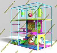 """Детская игровая комната лабиринт для кафе и ресторанов 3 этажа """"Зефирка"""""""