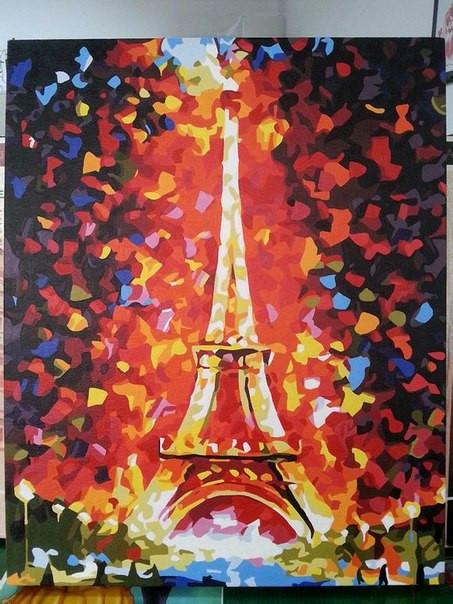 Раскраска по номерам MENGLEI Эйфелева башня худ. Афремов Леонид (MG076, G186, MS328)