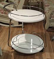 Сервировочный столик Флоренция  белый глянец