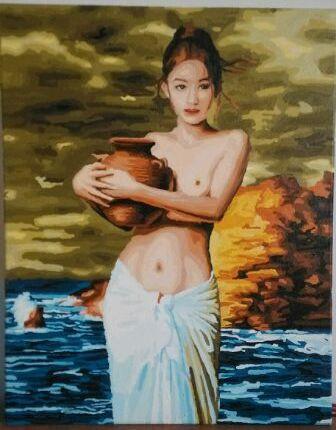 Рисование по номерам MENGLEI Девушка с кувшином (MG091) 4