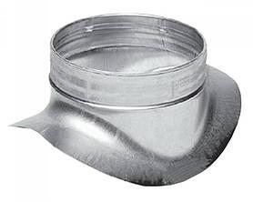 Врезка 150/125 в прямой участок воздуховода