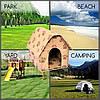 Портативный Складной Мягкий Домик для Собаки Portable Dog House Будка для Питомца - Фото
