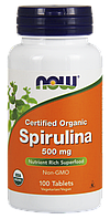 Now Spirulina 500mg 100 veg tabs