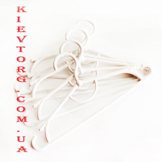 Вешалки плечики тремпеля детские белые пластиковые для дома и магазина, 31 см, 10 шт