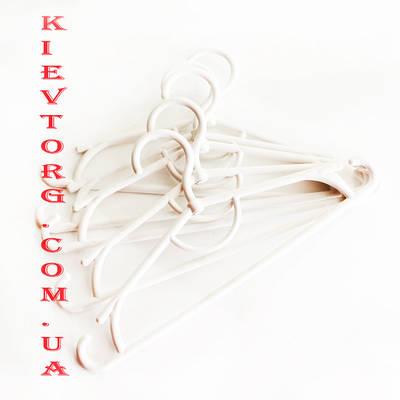 Вешалки плечики пластиковые детские белые 31 см