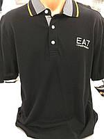 Чоловіча чорна стильна футболка.Копія Emporio Armani.Поло.Теніска.Турція.