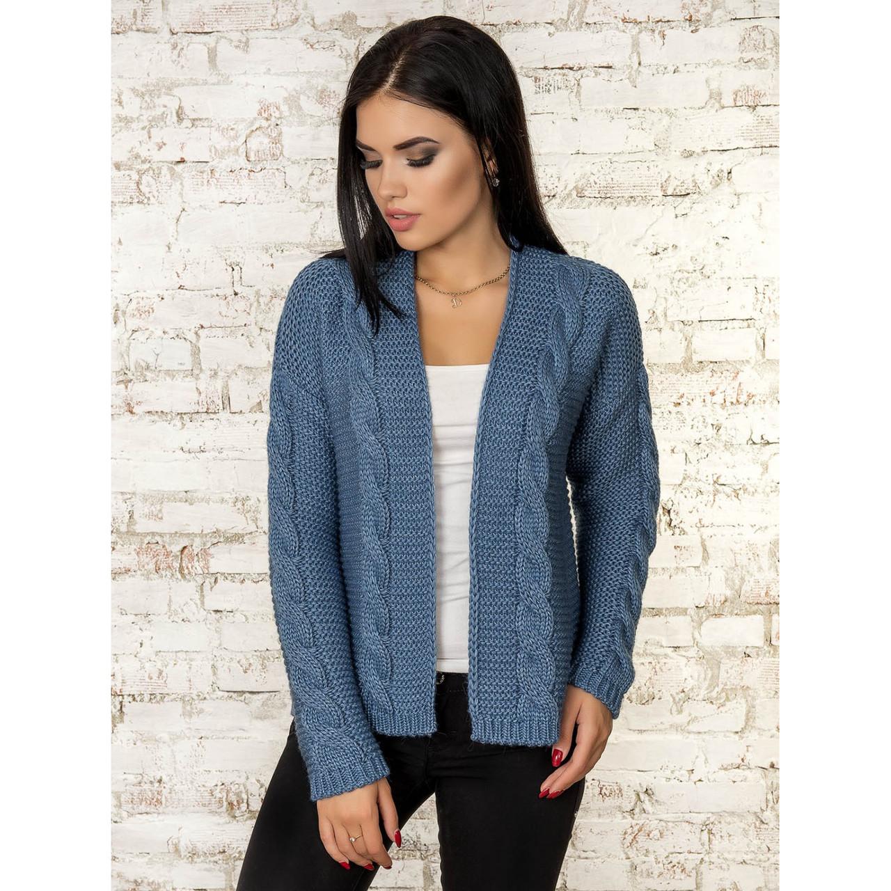 Вязаный кардиган пиджак 42-44-46 размер 5цветов