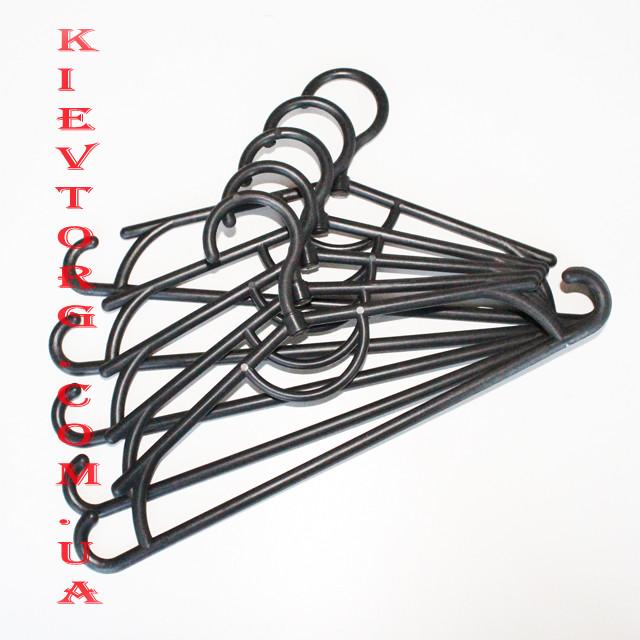Детские вешалки плечики пластиковые черные 31 см, 10 шт