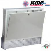 Коллекторный шкаф ICMA (Икма) 500 мм, с замком для системы «Теплый пол» арт.196 (глубина 90-110 мм).