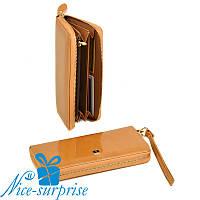 Женский кожаный кошелёк с ремешком Bretton W38 gold (серия Gold), фото 1