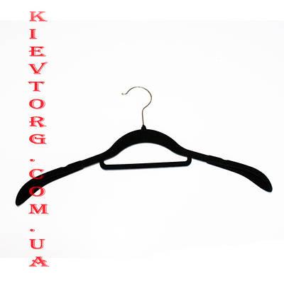 Широкое плечо! Плечики, вешалки флокированные (бархатные, велюровые), длина 420 мм