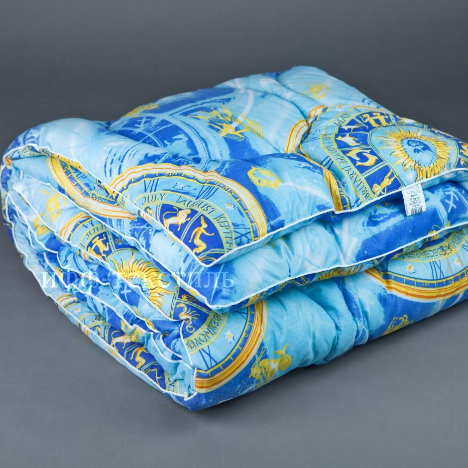 Зимнее теплое одеяло овчина полуторное бязь