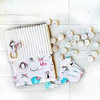 """Подарочный набор для новорожденного с гирлядной, на крещение, подарок на год """"Алиса"""", фото 1"""