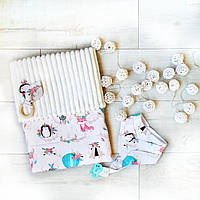 """Подарочный набор для новорожденного с гирлядной, на крещение, подарок на год """"Алиса"""""""