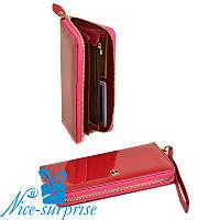 Женский кожаный кошелёк с ремешком Bretton W38 plum-red (серия Gold), фото 1