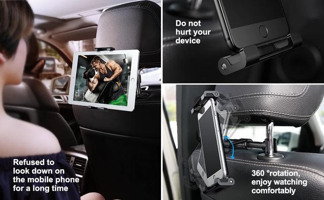 Держатель для планшета в авто с креплением на подголовник Baseus