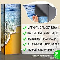 Виниловые наклейки на холодильник фото, Самоклейка, 180 х 60 см, Лицевая