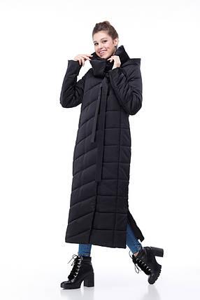 9005e443e1f71e Черное очень длинное все размеры зимнее пальто для сильных морозов теплое  размеры от 44 до 54