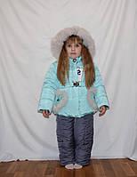 Красивая детская  зимняя куртка и  брюки для девочек  , фото 1
