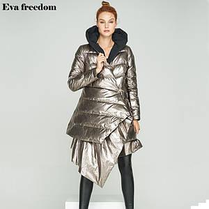 Оригинал Пуховик Двусторонний Женский EVA FREEDOM AW18 Black/Silver Черный