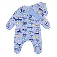"""Человечек с шапочкой для новорожденного """"Машинки"""" 2 ед. (62 интерлок) Интеркидс"""
