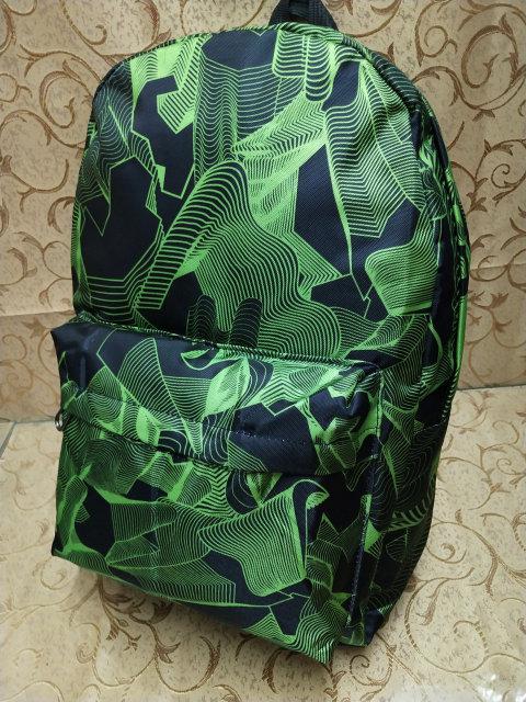 Рюкзак стильный абстракция зелёный унисекс