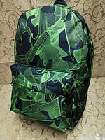 Рюкзак стильный абстракция зелёный унисекс, фото 1