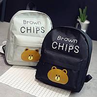 Рюкзак  с мишкой Brown Chips , цвета в наличии, фото 1