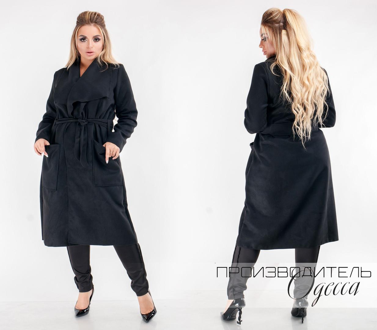 Женское пальто батал Мари