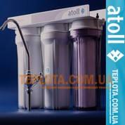Проточный бытовой фильтр Atoll 313 Е (Атолл трехступенчатый подмоечный)