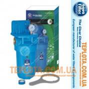 Фильтр колбовый для холодной воды Aquafilter FH10B1-B-WB 10 Big Blue, 1 дюйм (Аквафильтр Биг Блу с манометром)