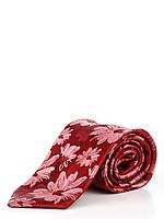 Шелковый галстук с цветочным узором