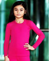 Термо футболка с длинным рукавом для девочки