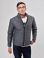 Мужская осенняя куртка К -1 серая