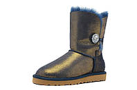 UGG Bailey Button Blue/Gold Jewel Оригинал. угги Оригинал, угги ugg australia Оригинал