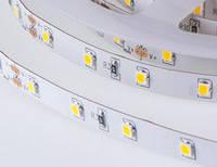 Гибкая светодиодная SMD2835 лента, 5м;60leds/m, 9мм*4мм, 12Vdc, 1000mA/m, (1140Lm/m), 3000-3500K1 Влагостойкая