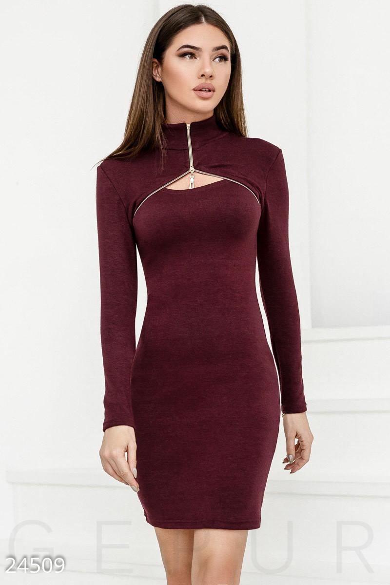 f259f292dcf Трикотажное Облегающее Платье Бордовое — в Категории